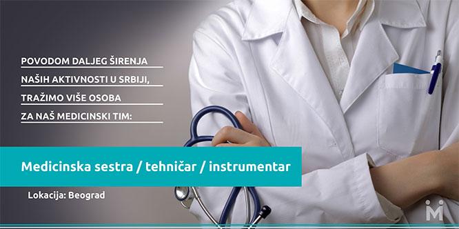 Konkurs - medicinska sestra, tehničar, instrumentar